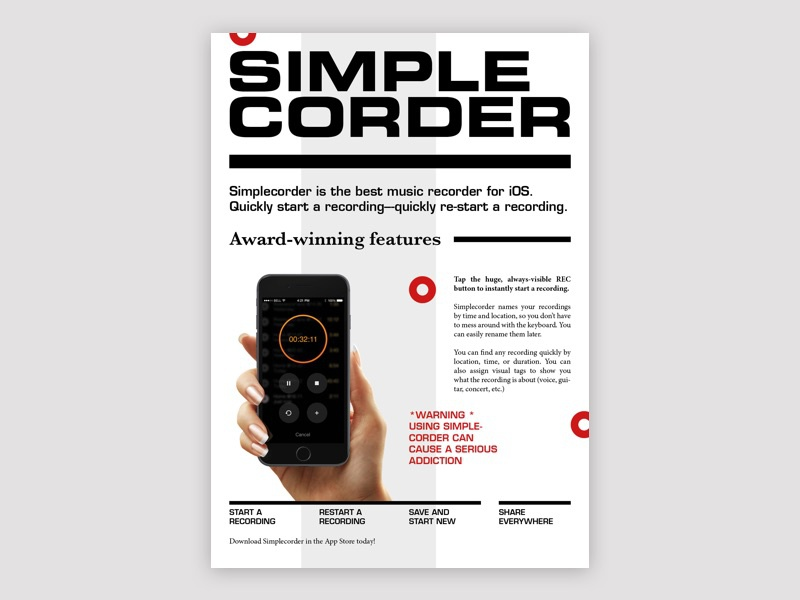 Simplecorder flyer