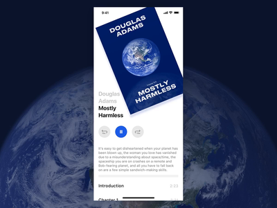 Audiobook scroll experiment ux mobile iphone sketch flat ui ios app