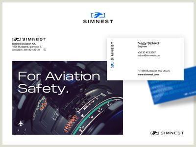 Simnest Branding business card brand logo typography aviation brand design branding