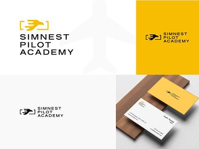 Simnest Pilot Academy Branding business card sketchapp flat brand identity logotype branding brand logo