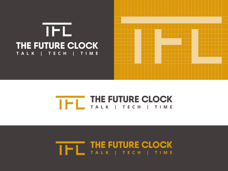 The Future Clock - IT Service Comapny it services it typography vector logo inspiration brand identity logo maker photoshop creative graphic illustrator brand logodesigns designer graphicdesigner art logo designer graphicdesign logo design logo