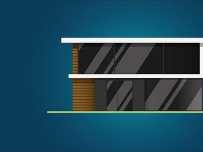 Modern-house bluefront/Illustrator type illustrator minimal typography vector app web icon design