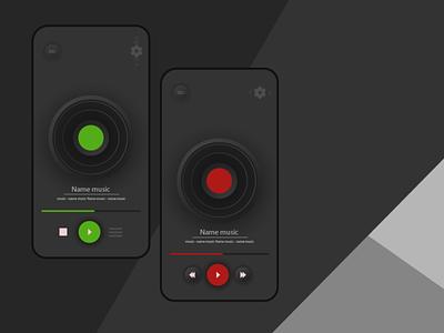 Phone Player/Illustrator branding illustrator website illustration музыка черный зеленый красный плеер logo ux vector design