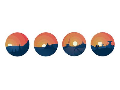 Закаты / Adobe Illustrator веб-сайт type art illustration illustrator typography ux flat logo design adobe illustrator