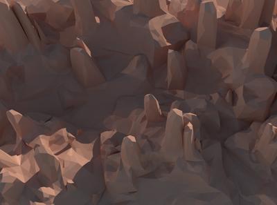каньон LowPoly
