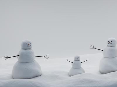 снеговик Cinema4D