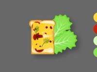 бутерброд в иллюстраторе