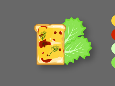 бутерброд в иллюстраторе color cheese red green illustrator web minimal branding icon бутерброд typography vector illustration design