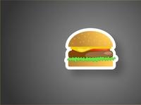 Бургер в иллюстраторе