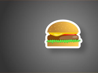 Бургер в иллюстраторе type illustrator minimal branding web meet black burger vector design icon illustration