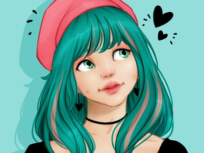 layanacmt cute redraw drawthisinyourstyle girl draw drawing illustration art digital digital art