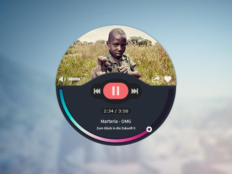 Music Player player music flat rebound ui interface web
