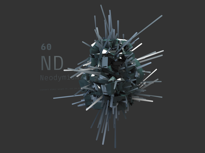 Neodymium cinema 4d periodic table science 3d art 3d