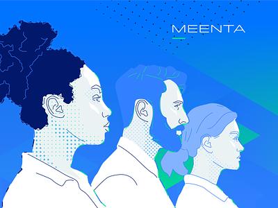 Meenta COVID-19 Brand icons icon illustration digital digital design design brand design branding brand
