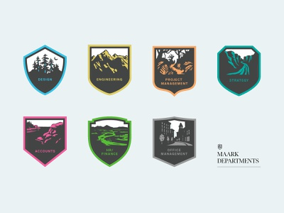 Department Badges shield logodesign logos logo illustration graphic design graphic design badge design branding brand badge animation