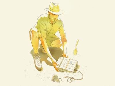 Relic archaeology archaeologist illustration super nintendo snes