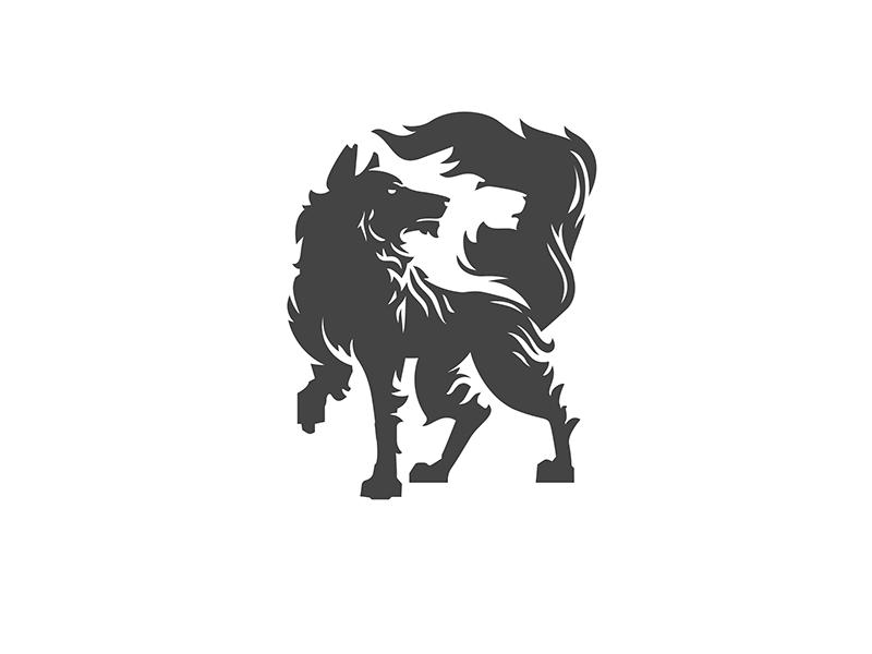 Wolf dribbble
