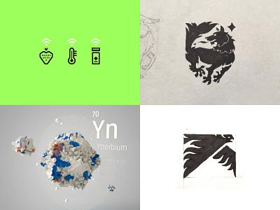 2018 Top Shots brand c4d 3d branding icon illustration