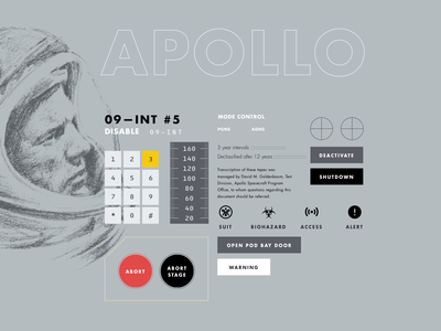 Apollo Design System - Beginning Stages sketch gauge control panel space buttons button design system design