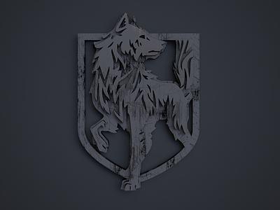 Metal Wolf metal 3d wolf logo design logodesign design c4d brand identity branding logo