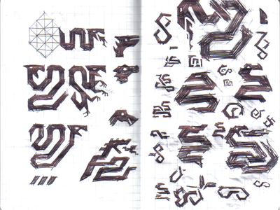 Army Insignia Sketches