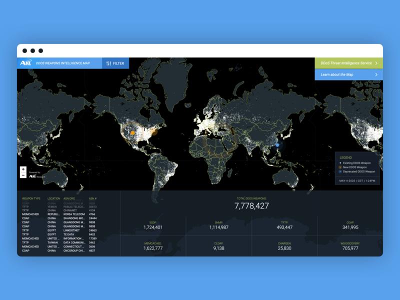 A10 Networks - DDoS Threat Intelligence Map threat hosting web application design web application development web app development web app design web application web app map ddos