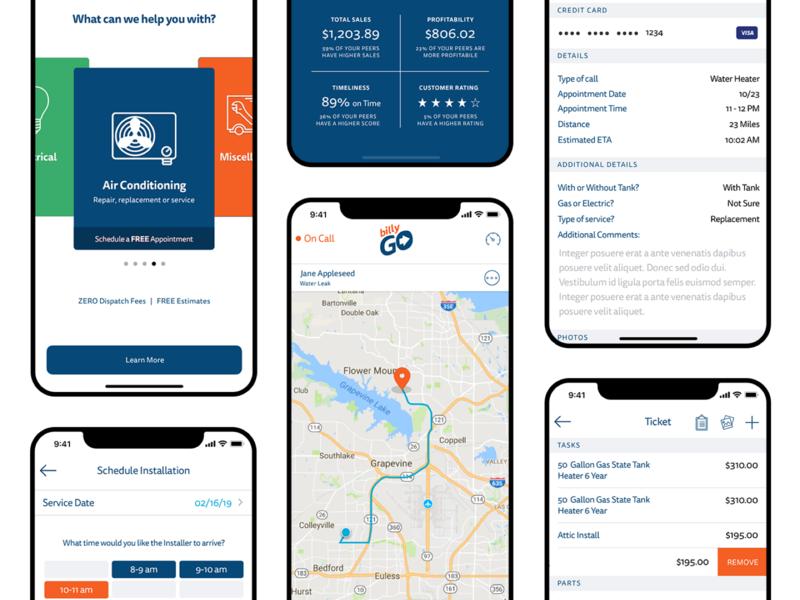BillyGo On-Demand Services App map tracking asset tracking mobile apps service service app services services app on demand app on demand app design design app