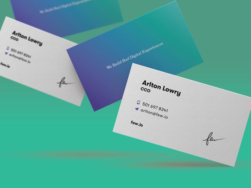 Few Business Cards cards business logo design branding