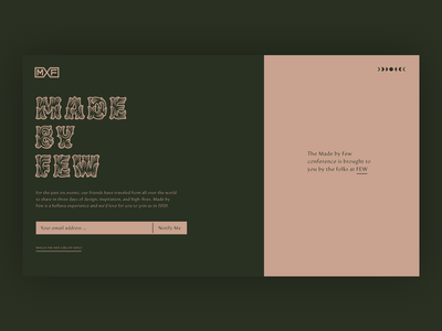 Made by Few Conference Teaser Site Update muted inspiration development conference salmon green design branding typography little rock arkansas