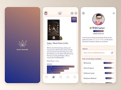 Budtender App Concept weed marijuana design ux ux design application messaging app design app ui cannabis budtender