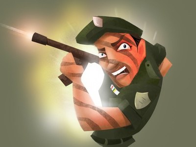 Ms.Military graphic design illustration character design digital art concept art