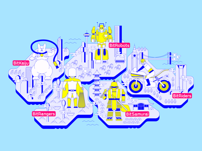 BitSummit Gaiden 2020 - Interactive Show Floor Map bitsummit japan art direction graphic design responsive web design web development web design ux ui illustration