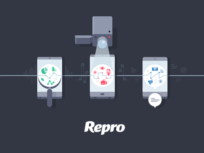 Repro - Marketing meets mobile apps infographics illustration