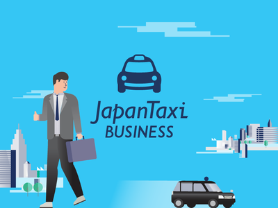 Japan Taxi Business print print layout storytelling illustration