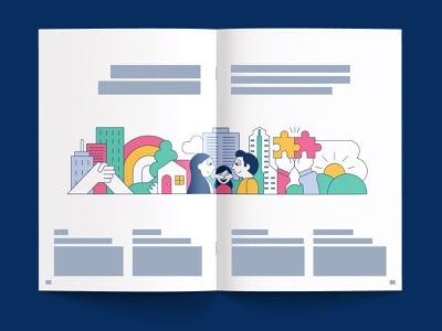 NEC Vision 2020 - Corporate Brochure corporate design editorial layout print layout print illustration