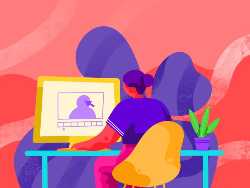 Mood logo branding web icon vector abstract design abstract animation after effect 2d animation minimal illustrator illustration flat design character animation design 2d character
