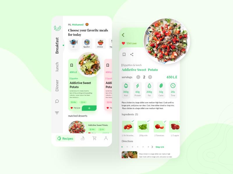Food Mobile App -Farha redesign - food ecommerce ingredients app ingredients mobile designer ecommerce app ecommerce redesign restaurant food app recipe design app ux ui