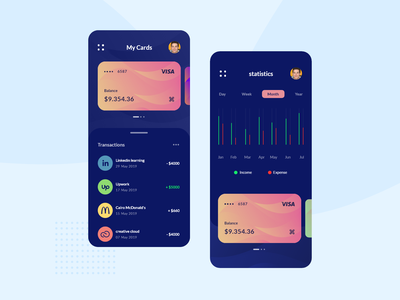 Banking App Dark Mode -exploration- ui  ux mobile layout homepage flat design finance designer cards card background art app design bank mobile app fintech app payment dark ui app ux ui