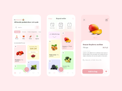 Daily Ui ingredient app -Exploration- ingredients daily daily ui mobile app flat food dailyui digital abstract clear mobile interface ecommerce clean food app minimal design app ux ui