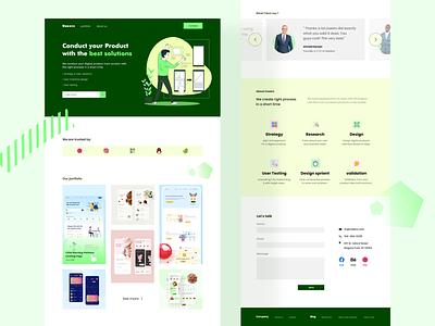 Uxeers - Ux Agency startup site webdesign agency landing landingpage web design website daily ui illustration dailyui interface clean minimal design app ux ui