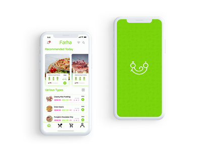 Farha App ecommerce app food app minimal app branding logo ux ui