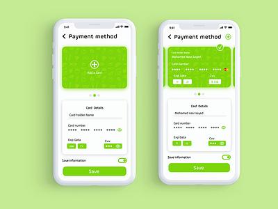 Farha App - Credit Card payment credit cards checkout design food app ux ui minimal logo ecommerce app branding app