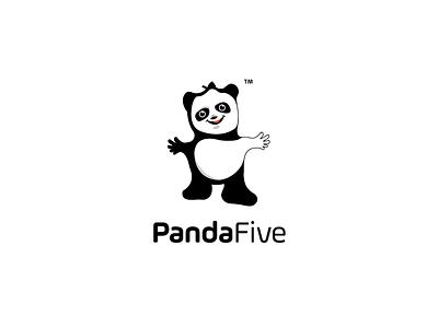 pandaFive logo dolls vector toys logo toys games branding logo