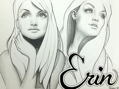 Erin sketch illustration pencil drawing portrait ink graphite