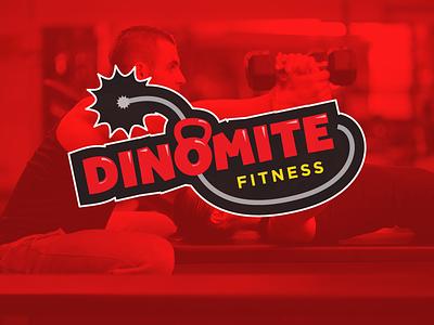 DinoMite Fitness logo fitness dinomite fitness vector branding dynamite kettlebell fun explosive spark