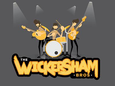 Wickersham Bros. wickersham bros wickersham band illustration font characters logo guitar drum graphic design branding