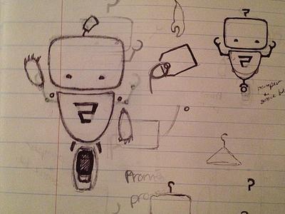 Promi Sketch promi sketch pen and ink robot mechanical promolizers illustration