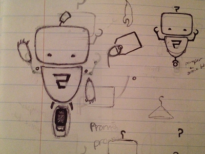 Promi Sketch promi sketch pen and ink robot mechanical promolizers illustration