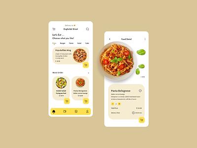 Food App food detail order order food food app adobe xd uidesign