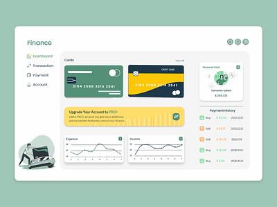 Dashboard Finance concept adobe xd uidesign dashboard ui dashboard